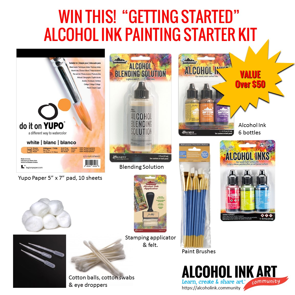 Alcohol Ink Art Supply Giveaway!
