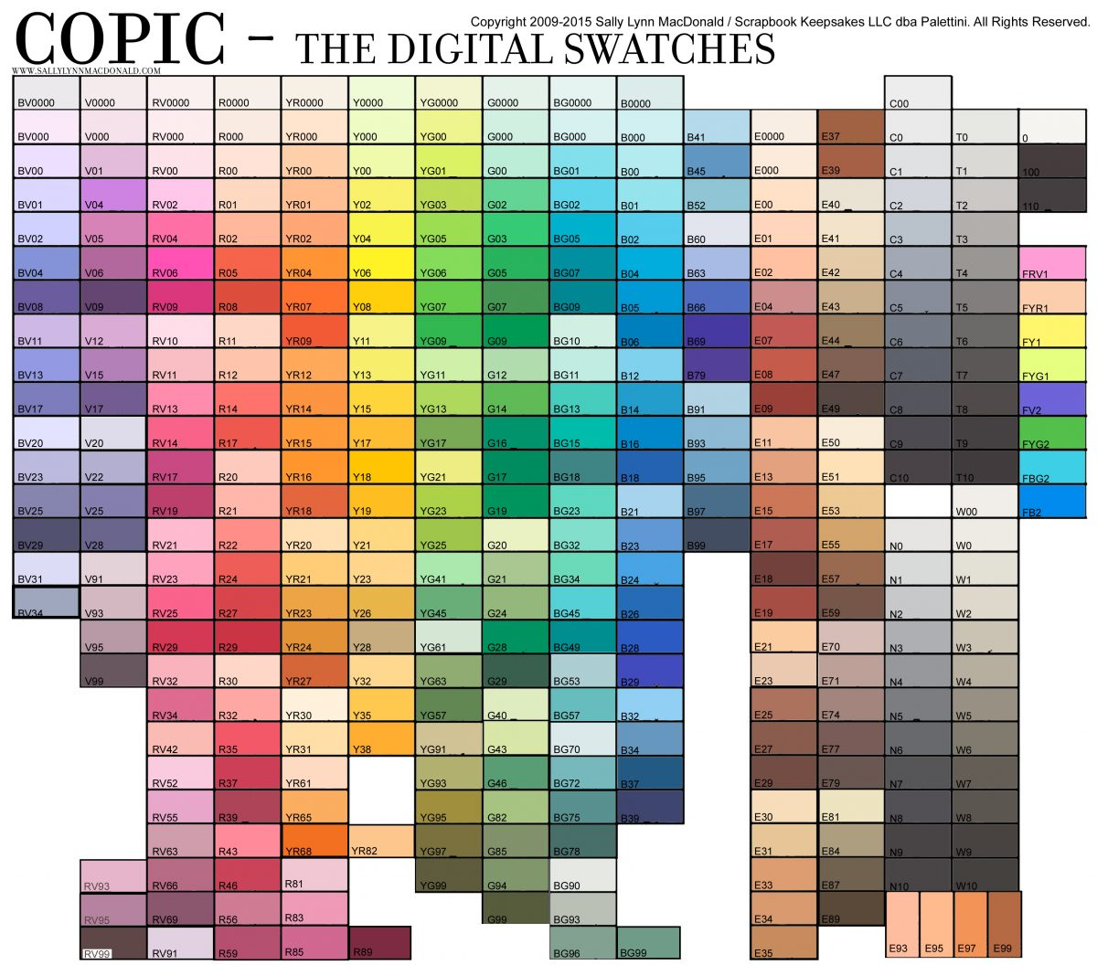 Premium resources alcohol ink art copic 358 color chart copic digital swatches nvjuhfo Image collections