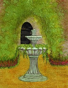 Fountain by Laurie Trumpet Williams