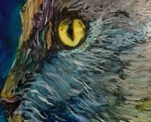 """Alcohol Ink Demo Painting –  """"Cat"""" Time Lapse Video"""