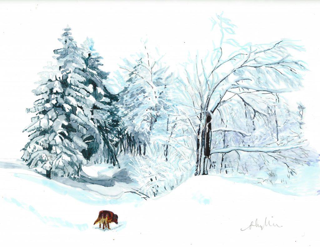 Thomas Habermann Old Dog in Winter