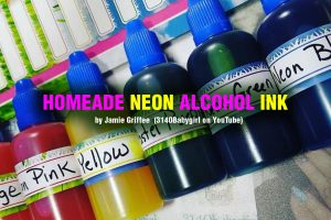 Homemade Neon Alcohol Ink
