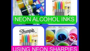 How to make alcohol ink: Neon
