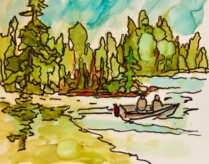 How to paint with Alcohol Ink, Scribble Art by Sharen Ak Harris