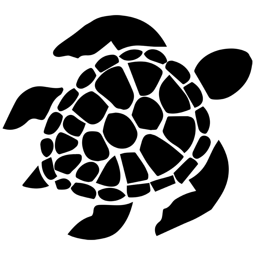 sea-turtle-outline-with-sea-clipart-silhouette - Alcohol ...