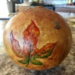 Alcohol Ink on Gourds