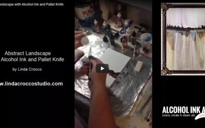 Painting an Abstract Landscape with Alcohol Ink & Pallet Knife