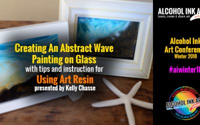 Creating an Abstract Wave Painting on Glass