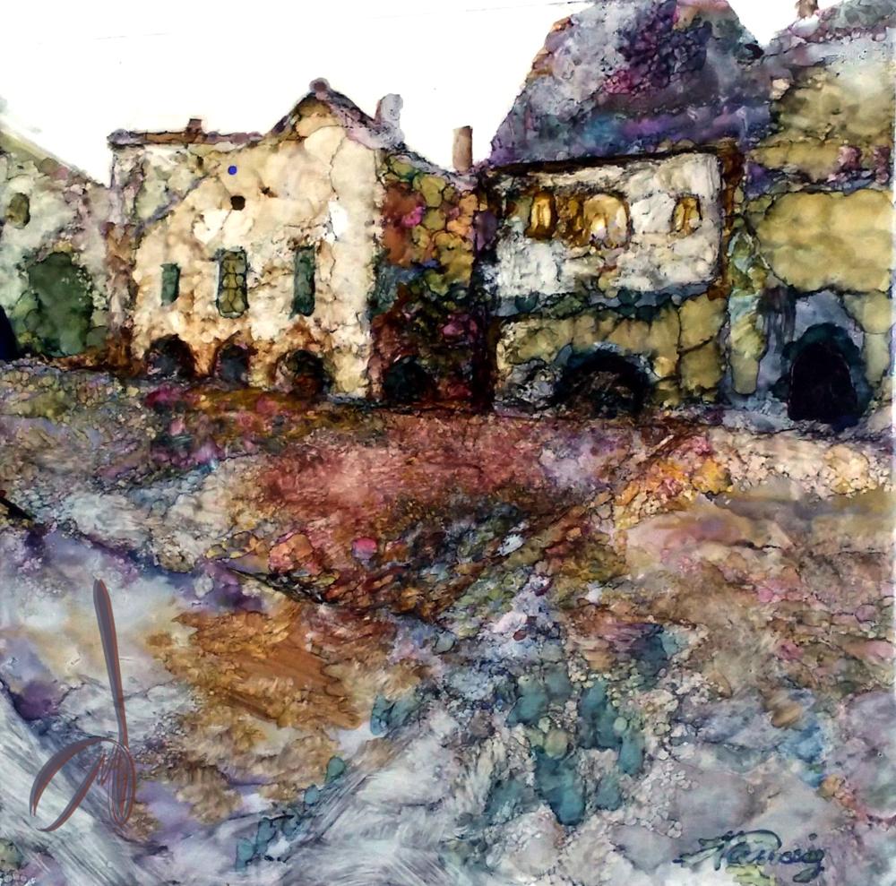 Monpazier Square by Marilee Taussig