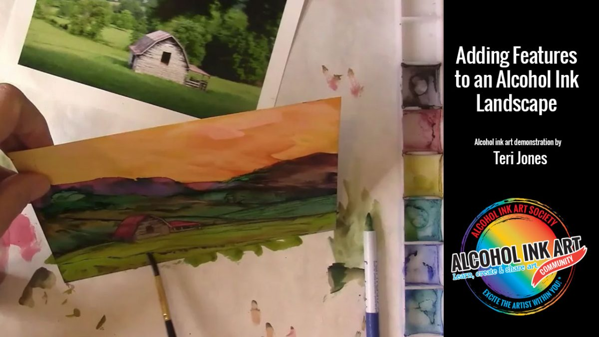 How to Paint a Tree Silhouette With Alcohol Ink