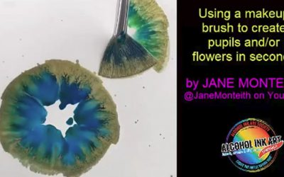 Alcohol Ink Technique –  Quick Flowers or Iris (Eyes)