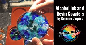 Creating Resin Coasters with Alcohol Ink