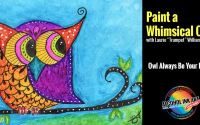 Painting a Whimsical Owl with Alcohol Ink