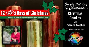 Christmas Candles Alcohol Ink