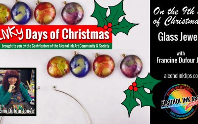 Alcohol Ink Glass Jewels
