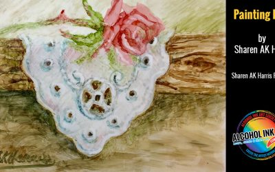 Painting Vintage Lace with Alcohol Ink