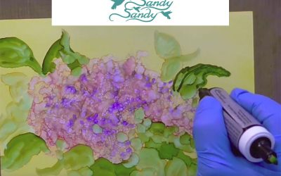 Happy Mother's Day Lilacs in Alcohol Ink