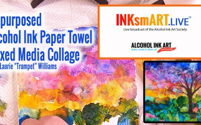 Alcohol Ink Collage from Repurposed Paper Towels