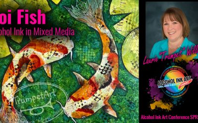 Koi Fish Alcohol Ink in Mixed Media