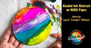 Alcohol Ink Abstract Painting