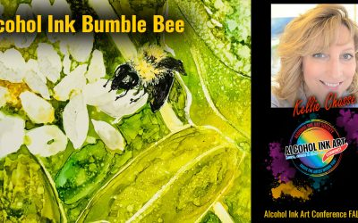Alcohol Ink Bumble Bee