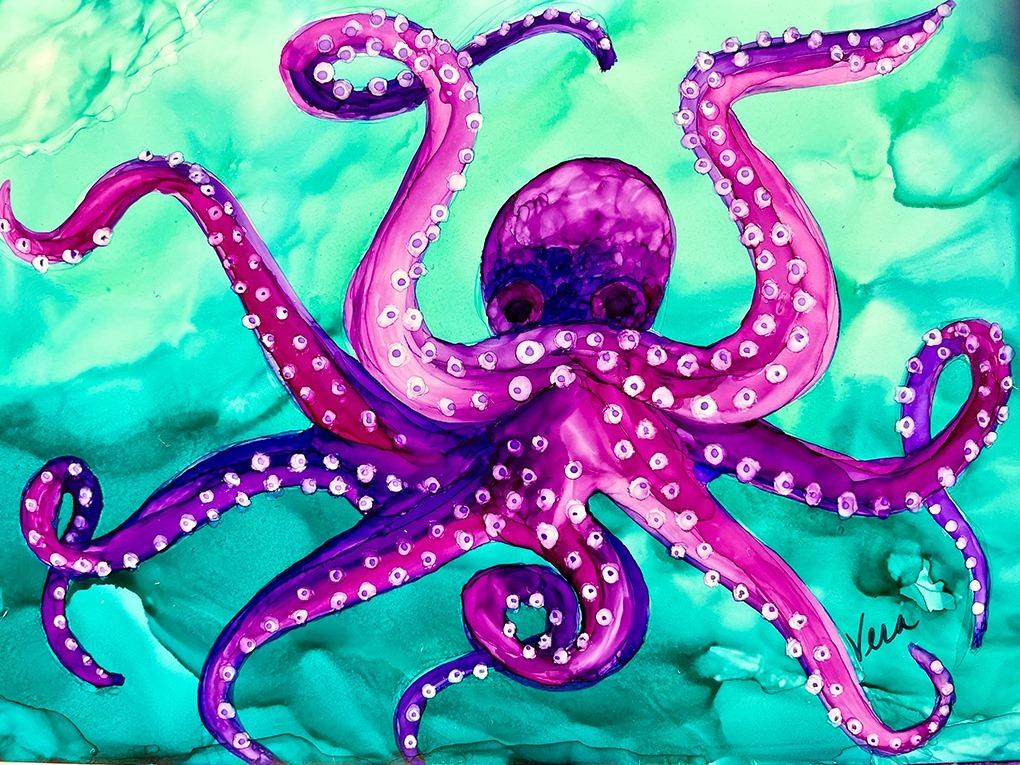 Octopus Painting with Vera Worthington