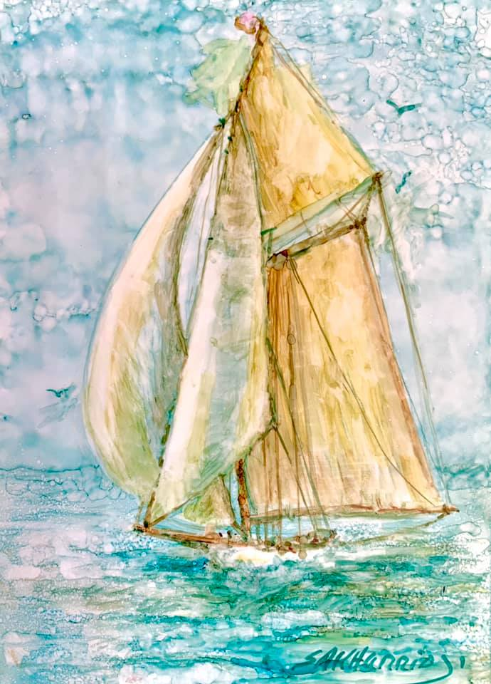Sailboat with Sharen AK Harris