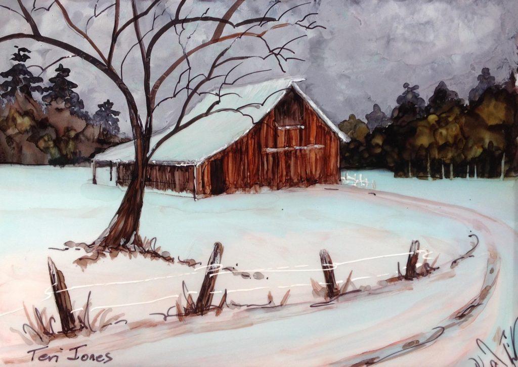 Winter Barn by Teri Jones