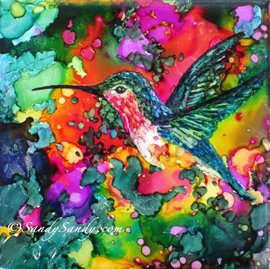 Hummingbird Love by Sandy Sandy