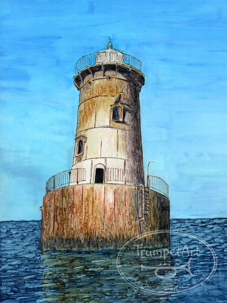 Bloody Point Lighthouse by Laurie Trumpet Williams