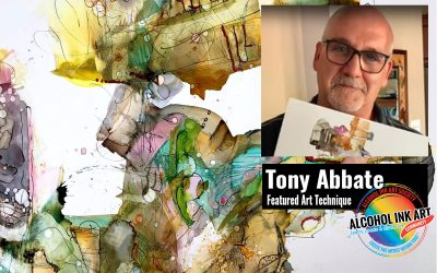 Abstract Alcohol Ink Technique – Tony Abbate