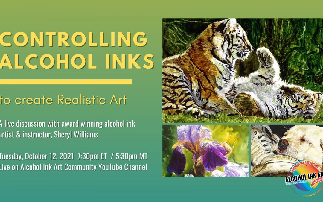 Controlling Alcohol Ink to Create Realistic Art