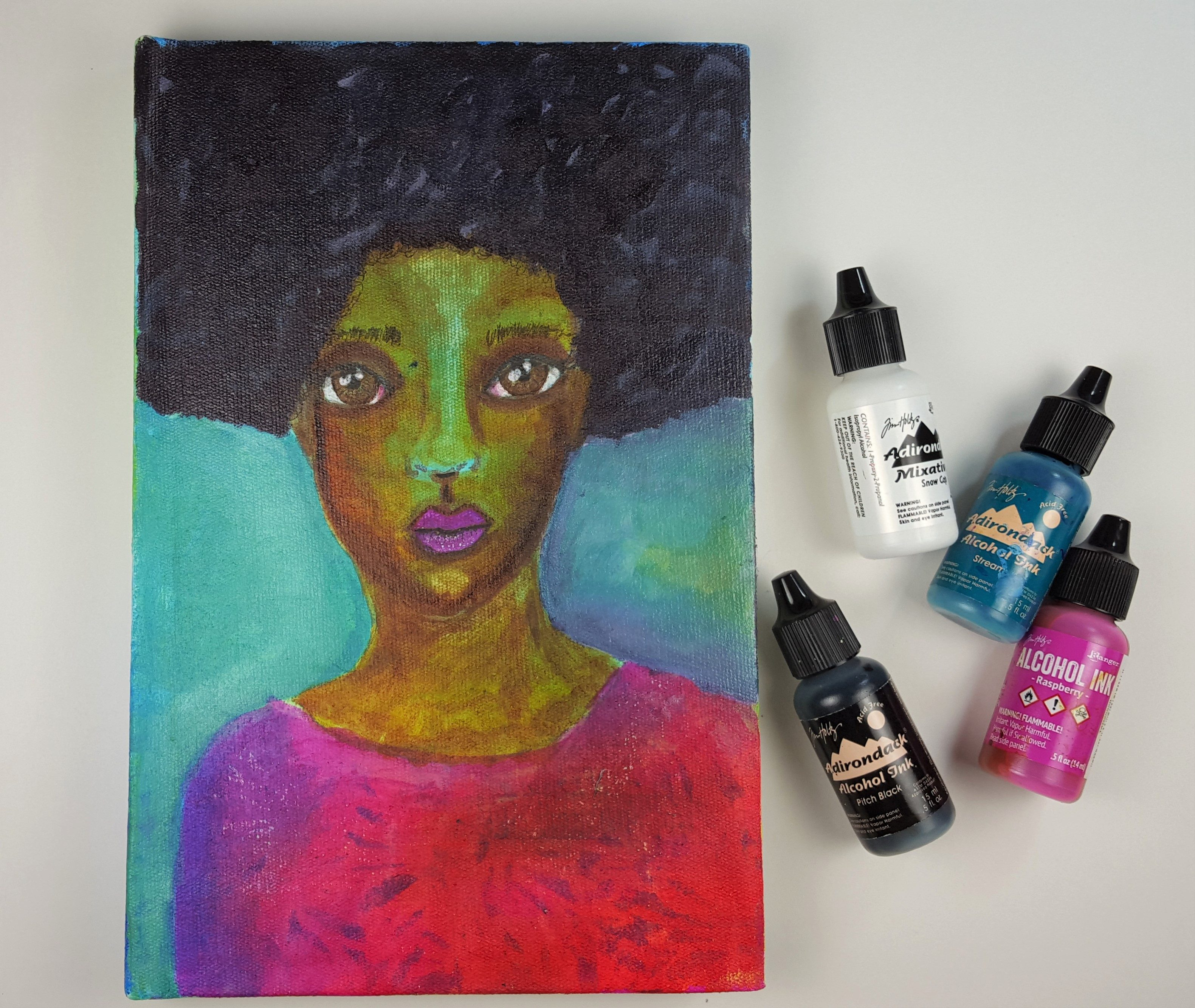 Painting a Face with Alcohol Inks